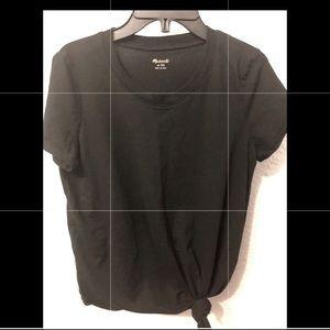Madewell SS Black So Soft Pima Cotton Tie Tee XS